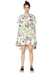 I'm Isola Marras Floral Printed Cotton Poplin Shirt Dress