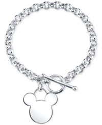 Disney Mickey Mouse Charm Bracelet In Sterling Silver