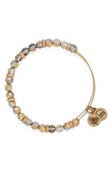 Women's Alex And Ani 'Gleam' Expandable Beaded Bangle Gentle Citrine
