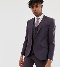 Heart And Dagger Slim Suit Jacket In Brown