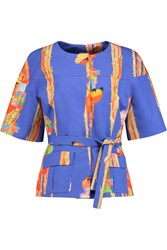 Stella Jean Printed Cotton Jacket Blue