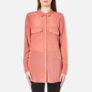Gestuz Women's Vega Silk Shirt Canyon Rose Pink