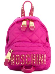 Moschino Mini Studded Backpack Pink Purple