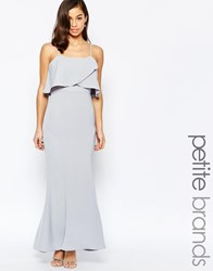 Jarlo Petite Overlay Maxi Dress Grey