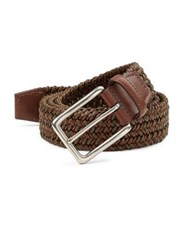 Saks Fifth Avenue Braided Leather Belt Olive
