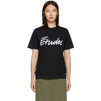 Etudes Studio Black Wonder Signature T Shirt