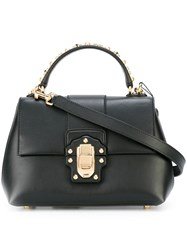 Dolce And Gabbana Studded Handle Tote Bag Black