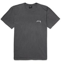 Stussy Paradise Lost Printed Cotton Jersey T Shirt Charcoal