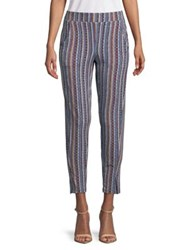 Bcbgeneration Basket Weave Stripe Track Pant Navy