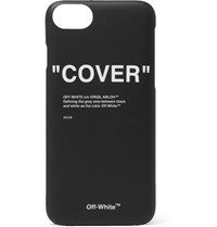 Off White Printed Acrylic Iphone 8 Case Black