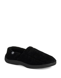 Isotoner Memory Foam Slippers Black