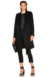 Ann Demeulemeester Soft Wool Coat In Black