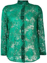 Roseanna Lace Jacques Blouse Green