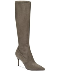 Nine West Calla Pointed Toe Tall Boots Women's Shoes Dark Grey