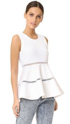 Carven Sleeveless Blouse Blanc Optique