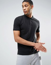 Only And Sons Pique Polo In Slim Fit Black