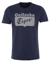 Onitsuka Tiger By Asics Onitsuka Tiger Core Print Tshirt Navy Dark Blue