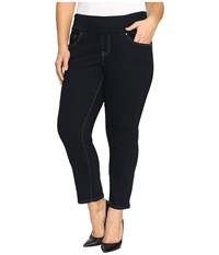 Jag Jeans Plus Size Amelia Pull On Slim Ankle Comfort Denim In After Midnight After Midnight Women's Black