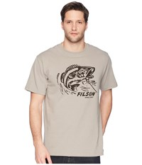 Filson Short Sleeve Outfitter Graphic T Shirt Steeple Gray On The Line T Shirt