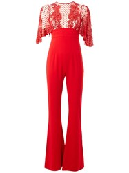 Zuhair Murad Exposed Back Jumpsuit Red