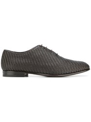 Ermenegildo Zegna Woven Oxford Shoes Brown