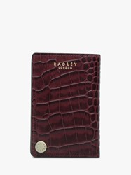 Radley Clarence House Leather Card Holder Burgundy
