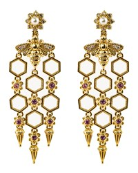 Konstantino 18K Yellow Gold Honeycomb And Bee Dangle Earrings