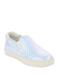 Ash Impuls Platform Slip On Sneakers White Blue