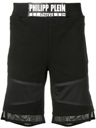 Philipp Plein Logo Jogging Shorts Black
