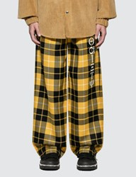 Alexander Wang Luxe Plaid Pajama Pant With Screen Print