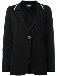 Giorgio Armani Loose Fit Blazer Black