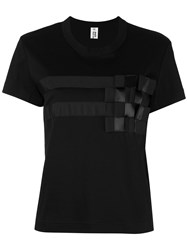Comme Des Garcons Noir Kei Ninomiya Geometric Print T Shirt Women Cotton Polyester M Black