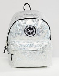 Hype Backpack In Holographic Silver 12a45a93fc734