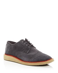 Toms Brogue Suede Lace Up Oxfords Forged Iron
