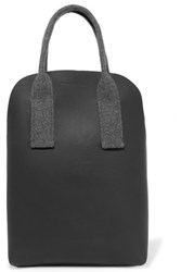 Brunello Cucinelli Felt Paneled Leather Tote Charcoal