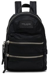 Marc Jacobs Woman Leather Trimmed Shell Backpack Black