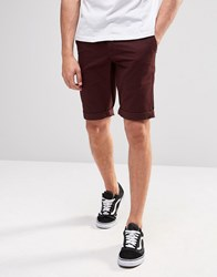 Minimum Chino Shorts In Red Bordeaux