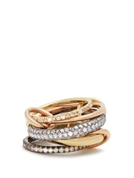 Spinelli Kilcollin Leo Diamond Silver Yellow And Rose Gold Ring