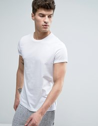 Asos T Shirt With Crew Neck And Roll Sleeve In White White