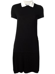 Red Valentino Pleated T Shirt Dress Black