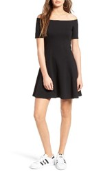 Socialite Women's Off The Shoulder Fit And Flare Dress
