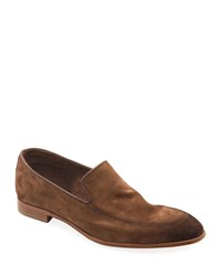 Bruno Magli Ivan Suede Slip On Loafers Brown
