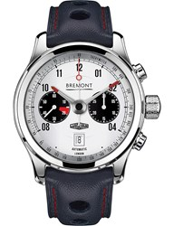 Bremont Bj Ii Wh Jaguar Mkii Chronograph Steel And Leather Watch