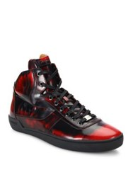 Bally Eroy Shiny Fume Leather Sneakers