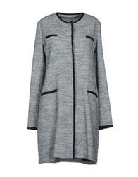 Scee By Twin Set Full Length Jackets Grey