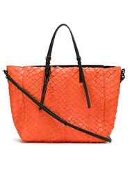 Osklen Pirarucu Tote Bag Orange
