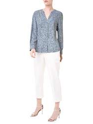 Precis Petite Jeff Banks Printed Blouse Blue Multi