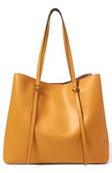 Polo Ralph Lauren Lennox Leather Tote Yellow Ochre