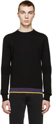 Cnc Costume National Black Houndstooth Wool Sweater