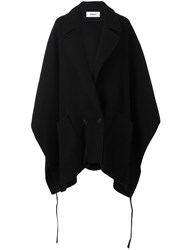 Chalayan Pocket Poncho Coat Black
